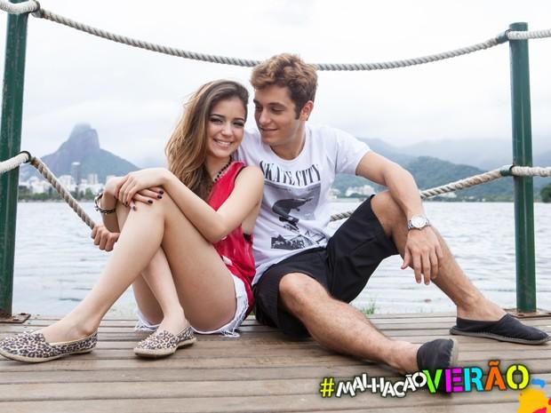 Anna Rita Cerqueira e Christian Monassa em ensaio exclusivo na Lagoa Rodrigo de Freitas  (Foto: Inácio Morais / TV Globo)