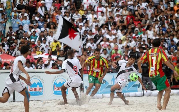 Sampaio Corrêa e Vasco da Gama, na Copa do Brasil, de futebol de areia (Foto: Divulgação/CBBS)