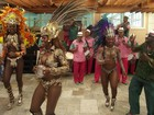 Velha Guarda da Mangueira se apresenta no carnaval de Juiz de Fora