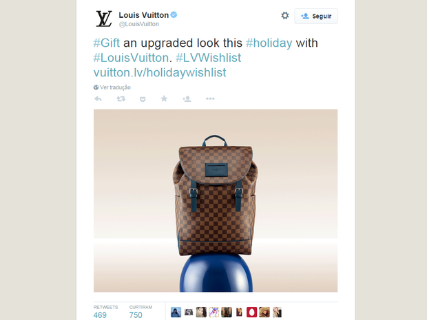 Louis Vuitton  (Foto: Reprodução/Twitter)