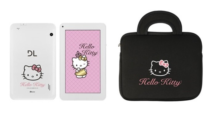 Tablet DL Hello Kitty roda Android 4.4 Kit Kat (Foto: Divulgação/DL)