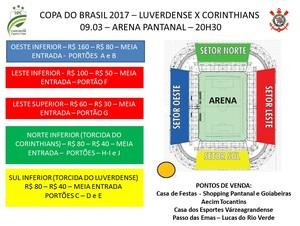 Luverdense, Coritnhians, ingressos (Foto: Divulgação/Luverdense)