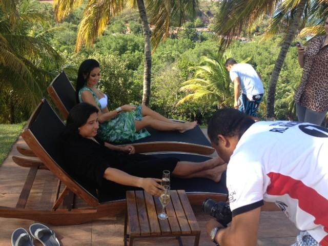 Helen Ganzarolli participa de clipe (Foto: Fabrício Magalhães / Divulgação)