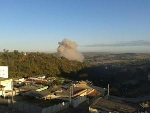 Explosão Fabrica fogos de artificio Santo Antonio do Monte (Foto: G1/G1)