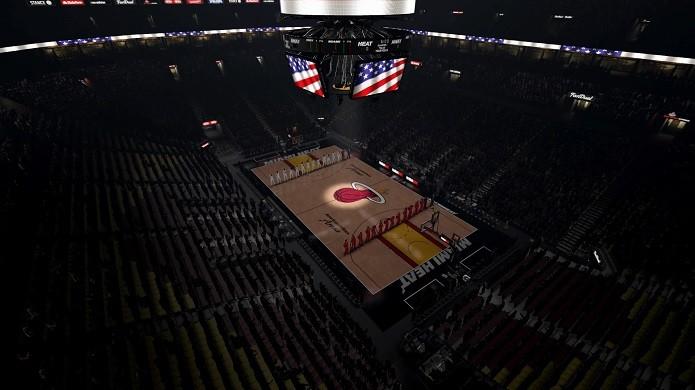 Introduções das equipes são bem legais no novo NBA 2K (Foto: Reprodução/Thiago Barros)