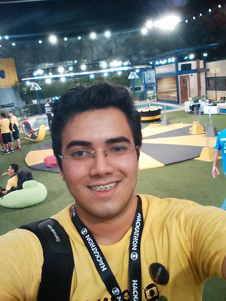 Allex Lima, representante do Amazonas, no Hackathon Globo 2016 (Foto: Arquivo Pessoal)