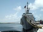 Navio militar que integra missão no Líbano atraca no Porto de Natal