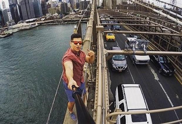 David Karnauch foi preso por fazer selfie na ponte do Brooklyn (Foto: Reprodução/Instagram/Davidkarny )