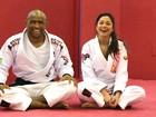 Confira como é a aula de jiu-jitsu de Maria Melillo