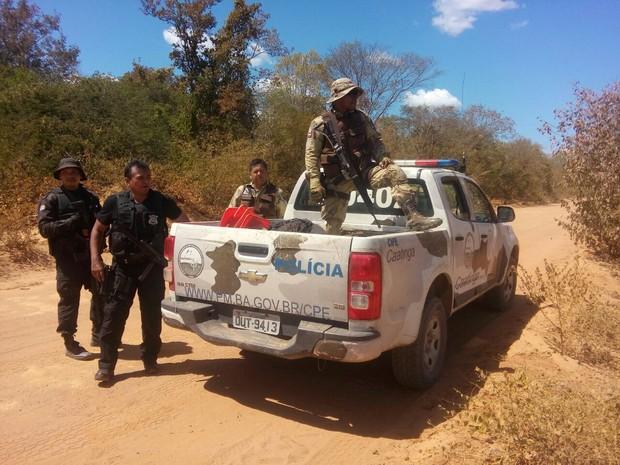 Em diligências, polícia troca tiros com criminoso em região com mata fechada (Foto: Divulgação/Polícia Civil)