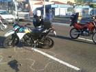 Policial militar fica ferido em acidente na área central de Campo Grande