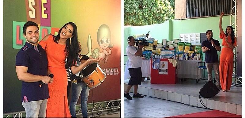 Apresentadores Daniel Viana e Niara Meireles comandam a festa. (Foto: Se Liga VM)