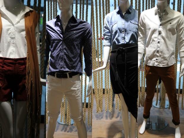a683842b290 Consultora montou dois looks masculinos e dois femininos (Foto: Inaê  Brandão/ G1 RR