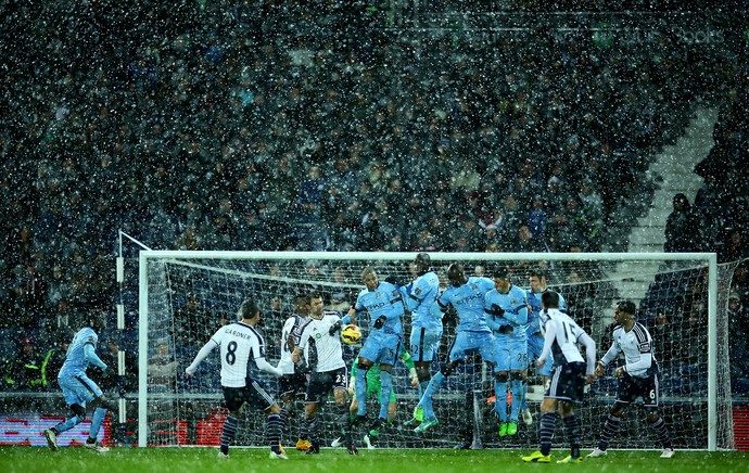 West Bromwich x Manchester City - neve (Foto: Getty)