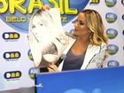 Claudia Leitte ganha desenho de fã antes de apresentação em Minas
