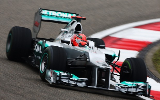 Michael Schumacher, GP da China (Foto: Getty Images)