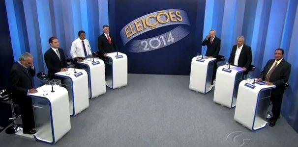 TV Gazeta realizou o debate com os candidatos ao governo de Alagoas  (Foto: Reprodução/ TV Gazeta)