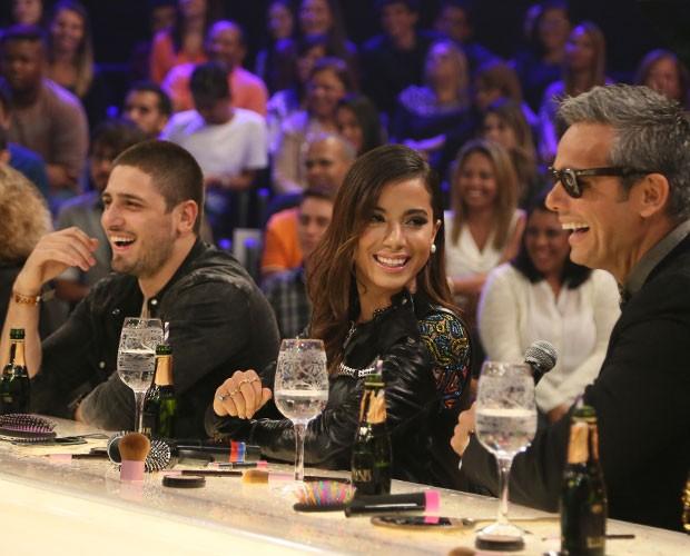 Anitta se divertiu na gravação do 'Amor & Sexo' (Foto: Carol Caminha/Gshow)