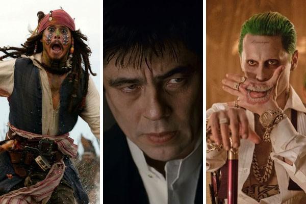 Piratas do Caribe: O Baú da Morte (2006), O Lobisomem (2010) e Esquadrão Suicida (2016) não agradaram os críticos, mas levaram suas estatuetas do Oscar  (Foto: Reprodução)