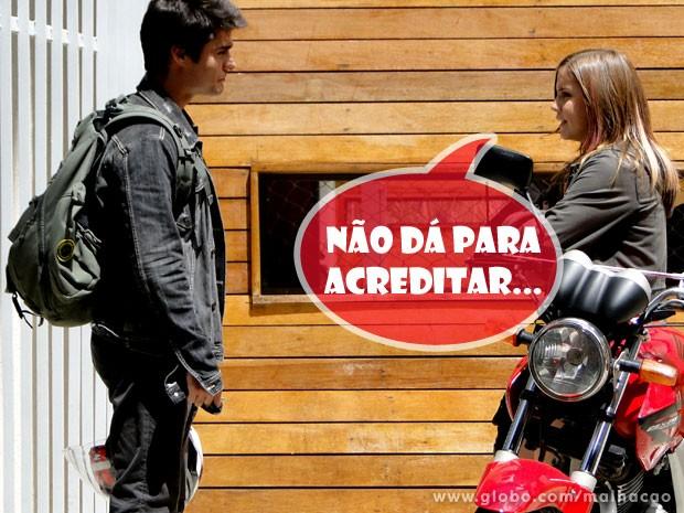 Lia não aceita o término do seu namoro com o Vitor  (Foto: Malhação / TV Globo)