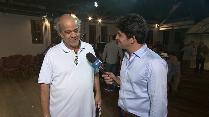 Jorge Alfredo e Alessandro Timbó falam sobre o Caderno de Cinema (Foto: TV Bahia)