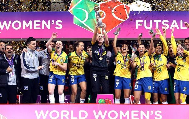 Brasil futsal feminino tricampeonato Mundial (Foto: EFE)