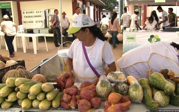 Produtores participam da Feira de Agricultura familiar em Boa Vista (Foto: Roraima TV)