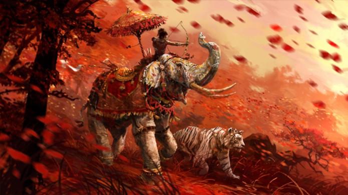 Escolha entre o caminho do elefante ou do tigre em Far Cry 4 (Foto: XGN) (Foto: Escolha entre o caminho do elefante ou do tigre em Far Cry 4 (Foto: XGN))