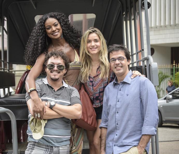 Quem não se divertiu com as cenas hilárias de Monique Alfradique, Cris Vianna, Fábio Lago e Bruno Mazzeo? (Foto: Raphael Dias/ Gshow)