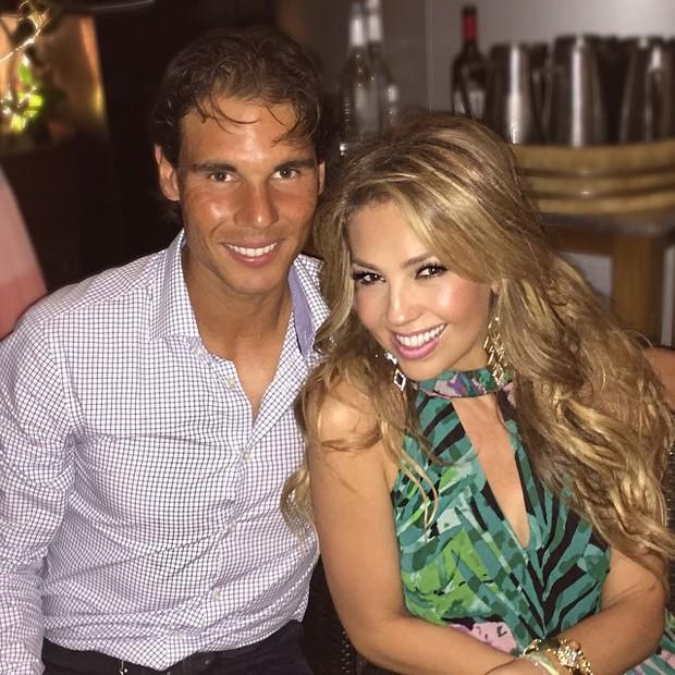 Rafael NAdal e Thalia (Foto: Reprodução/Instagram)