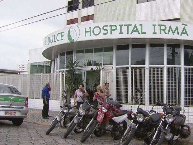 Hospital Irmã Dulce, em Praia Grande (Foto: Reprodução/TV Tribuna)