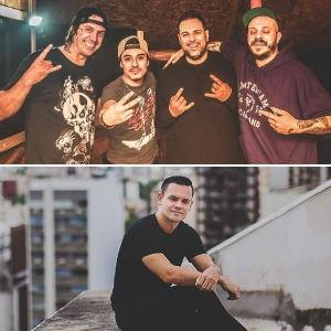 Comunidade Nin-Jitsu e DJ João Brasil (Foto: Montagem sobre fotos Magdiel Oliveira/Divulgação e Rodrigo Esper/I Hate Flash)