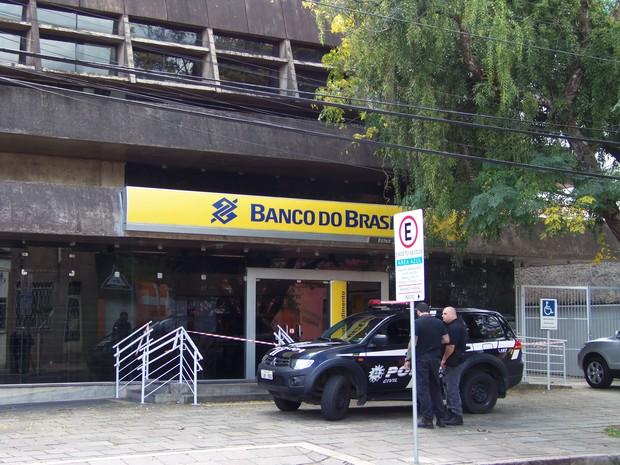 Banco Arrombado Porto Alegre (Foto: João Laud/RBS TV)
