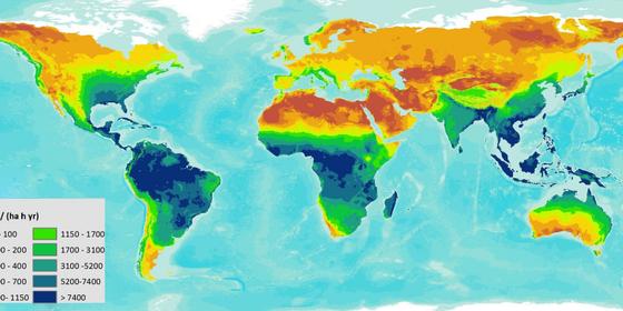 Primeiro mapa global do potencial de erosão. A Bacia Amazônica é a região mais vulnerável (Foto: reprodução)