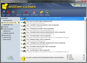 Ashampoo Registry Cleaner, limpeza de registro
