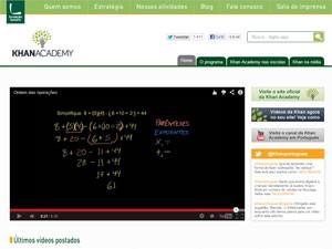 Academia Khan, videoaulas, aulas em vídeo (Foto: Reprodução)