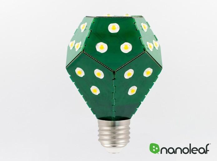 Nanoleaf Bloom é uma lâmpada inteligente e que dispensa gastos em estrutura (Foto: Divulgação/Nanoleaf Bloom) (Foto: Nanoleaf Bloom é uma lâmpada inteligente e que dispensa gastos em estrutura (Foto: Divulgação/Nanoleaf Bloom))