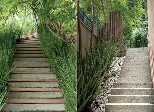 escadas rusticas jardins : escadas rusticas jardins:excedente de pedras portuguesas utilizado na escada foi