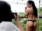 Graciella Carvalho faz primeiro ensaio sensual após infecção com hidrogel