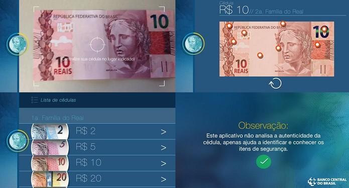 Descubra se uma nota é falsa com a ajuda do app Dinheiro Brasileiro (Foto: Divulgação/AppStore)