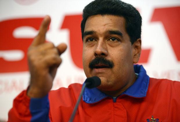 O presidente da Venezuela, Nicolas Maduro, em foto desta segunda-feira (21) (Foto: Leo Ramirez/AFP)