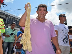 Roberto Silva, cordeiro (Foto: Karla Lima/G1)