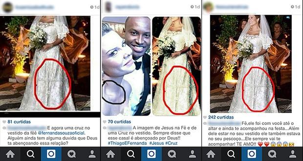 Seguidores apontam cruz em vestido de Fernanda Souza (Foto: Instagram / Reprodução)