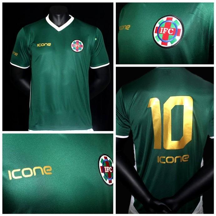 39ed9f3a12 Marketing do clube divulgou como será a camisa número 1 (Foto  Divulgação    Ipatinga