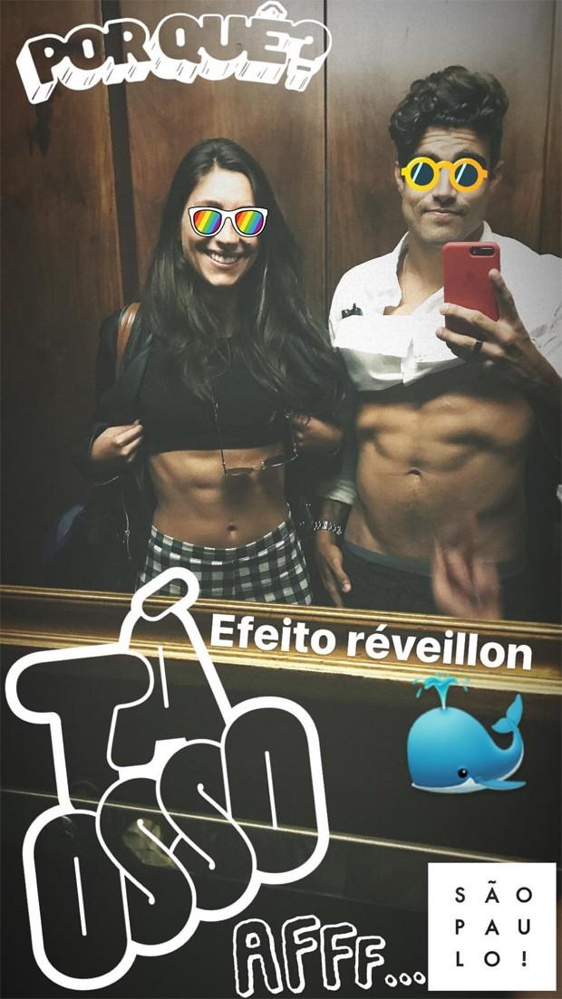 Mariana d'Ávila e Caio Castro (Foto: Reprodução/Instagram)
