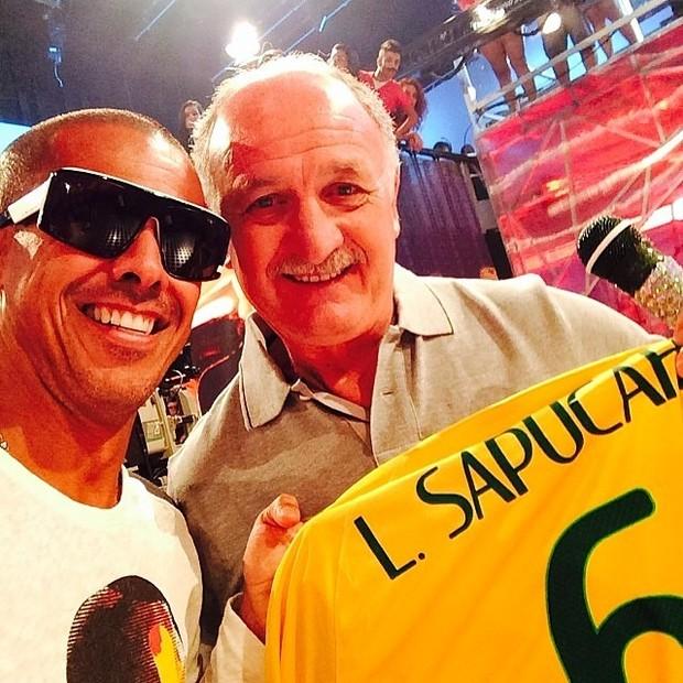Copa do Mundo - Leandro Sapucahy e Felipão (Foto: Reprodução Instagram)