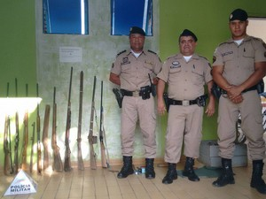 Trinta policiais participaram da operação na Região de Manga (Foto: Divulgação Polícia MIlitar)