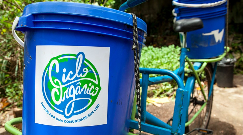 Coleta da Ciclo Orgânico é feita por ciclistas (Foto: Divulgação)