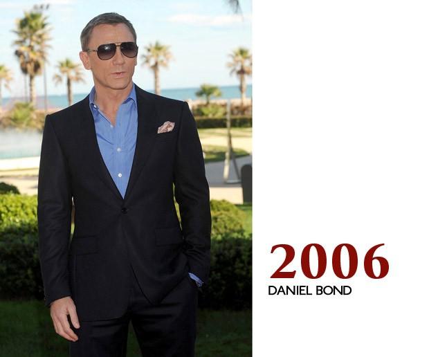 """Ao promover """"Quantum of Solace"""" na Espanha, a tênue linha que separava Craig de Bond começa a se misturar (Foto: GQ)"""