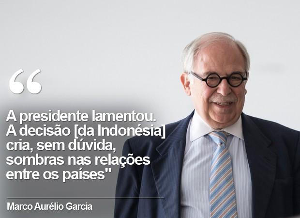 Marco Aurélio Garcia concede entrevista sobre decisão da Indonésia (Foto: Marcelo Camargo/Agência Brasil)